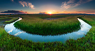 Lake chanel in a shape of horseshoe