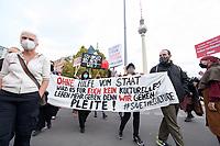 """28 OCT 2020, BERLIN/GERMANY:<br /> Demonstration der Veranstaltungswirtschaft """"Alarmstufe Rot"""", Forderung von Maßnahmen zur Rettung der Veranstaltungswirtschaft nach den Einschraenkungen durch die Corona Pandemie, Spandauer Strasse<br /> IMAGE: 20201028-01-005<br /> KEYWORDS: #alarmstuferot, Corvid19, Protest, Demo, Demonstranten, Veranstatungsbranche, Eventbranche"""