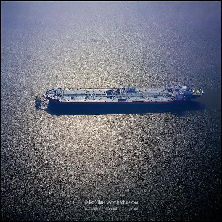 Floating storage tanker, Riau, Sumatra, Indonesia