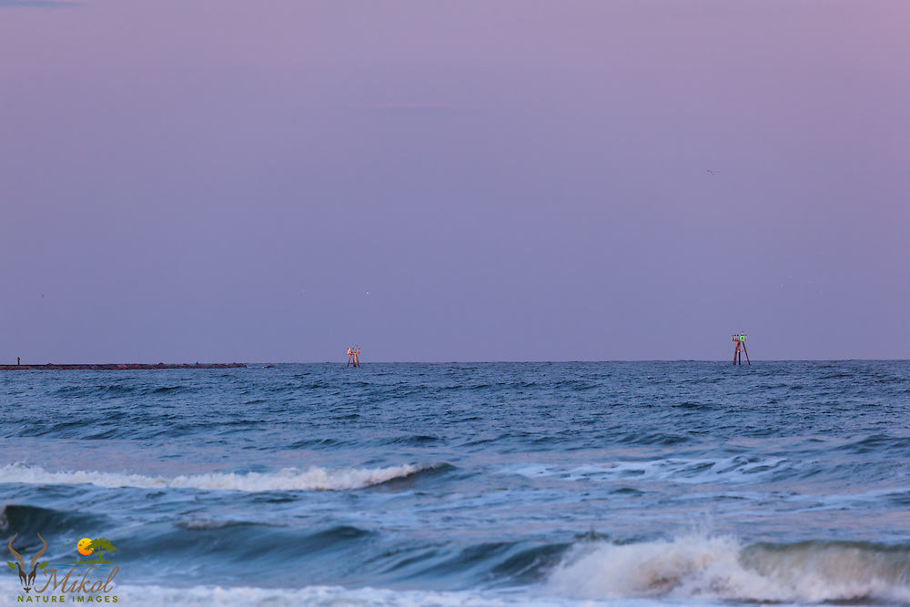 Murrells Inlet Channel Markers at dusk