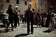 Giorgia Meloni durante la manifestazione Fratelli d'Italia-Alleanza Nazionale, Roma 1 maggio 2014.  Christian Mantuano / OneShot <br /> <br /> Giorgia Meloni during the event of Fratelli d'Italia-Alleanza Nazionale, Rome 1 may 2014.  Christian Mantuano / OneShot