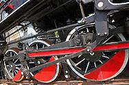 Steam locomotive wheels in Ciego de Avila, Cuba.