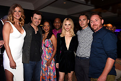 WEST HOLLYWOOD - AUGUST 8: L-R: THE ORVILLE cast member Adrianne Palicki, Creator/Writer/Executive Producer/cast member Seth MacFarlane, cast members Penny Johnson Jerald, J Lee, Halston Sage, Mark Jackson and Scott Grimes attend FOX and FX 2017 Summer TCA All-Star party at Soho House on August 8, 2017 in West Hollywood, California. (Photo by Frank Micelotta/FOX/PictureGroup) *** Please Use Credit from Credit Field ***