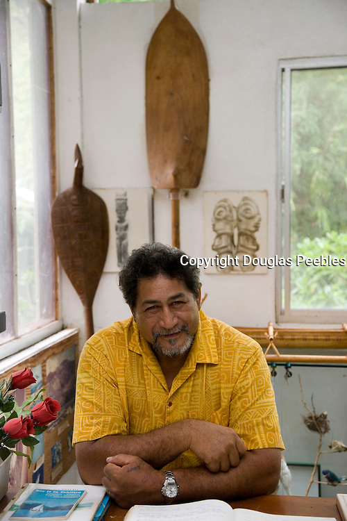 Joseph Tehau, Vaatete, Community Museum of Ua Huka, Marquesas Islands, French Polynesia, (Editorial use only)<br />