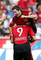 Fotball<br /> Bundesliga Tyskland<br /> Foto: Witters/Digitalsport<br /> NORWAY ONLY<br /> <br /> 12.08.2006<br /> <br /> Jubel 2:0 Gonzalo Castro, Sergej Barbarez<br /> <br /> Fussball Bundesliga Bayer 04 Leverkusen - Alemannia Aachen 3:0