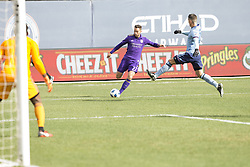 March 17, 2018 - New York, New York, United States - RJ Allen (27) of Orlando City SC controls ball during regular MLS game against NYC FC at Yankee stadium NYC FC won 2 - 0 (Credit Image: © Lev Radin/Pacific Press via ZUMA Wire)