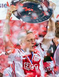 15-05-2019 NED: De Graafschap - Ajax, Doetinchem<br /> Round 34 / It wasn't really exciting anymore, but after the match against De Graafschap (1-4) it is official: Ajax is champion of the Netherlands / Donny van de Beek #6 of Ajax