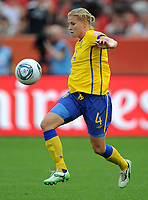Fotball<br /> VM kvinner 2011 Tyskland<br /> 28.06.2011<br /> Sverige v Colombia<br /> Foto: Witters/Digitalsport<br /> NORWAY ONLY<br /> <br /> Annica Svensson (Schweden)<br /> Frauenfussball WM 2011 in Deutschland, Kolumbien - Schweden 0:1