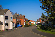 Detached modern housing in  suburban street, Melton, Suffolk, England