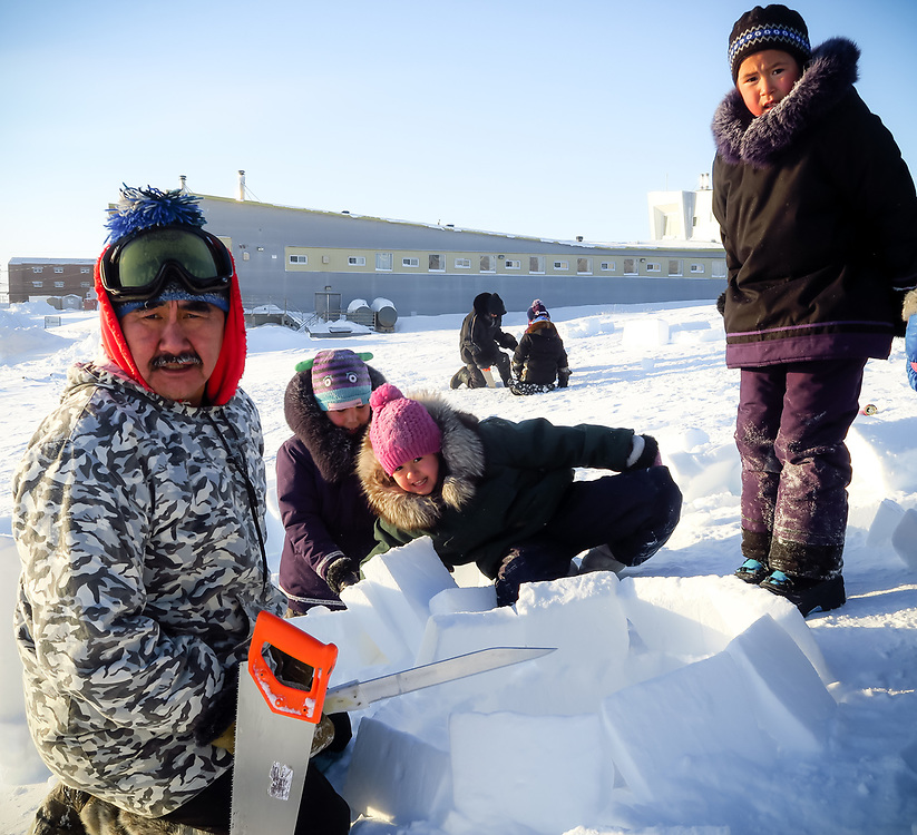 Learning how to make an igloo