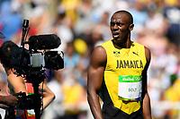 Usain Bolt (JAM) Athletics Men s 100m  during the Olympic Games RIO 2016, Athletics, on August 13, 2016, in Rio, Brazil - Photo Julien Crosnier / KMSP / DPPI