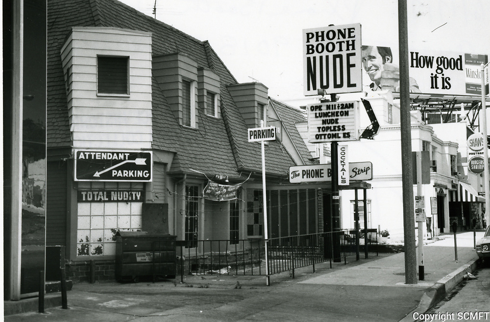 1973 Phone Booth Nightclub on Sunset Blvd. in West Hollywood