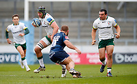 Rugby Union - 2020 / 2021 Gallagher Premiership - Round 4 - Sale Sharks vs London Irish - A J Bell Stadium<br /> <br /> Rob Simmons of London Irish and Akker van der Merwe of Sale Sharks at A J Bell Stadium<br /> <br /> Credit COLORSPORT/LYNNE CAMERON