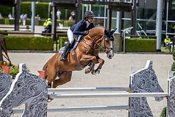 Müller Caroline, GER, Justice HL<br /> Nationaal Kampioenschap KWPN<br /> 6 jarigen springen round 2<br /> Stal Tops - Valkenswaard 2020<br /> © Hippo Foto - Dirk Caremans<br /> 18/08/2020