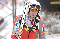 Mitja Meznar (SLO) during Trial round of the FIS Ski Jumping World Cup event of the 58th Four Hills ski jumping tournament, on January 6, 2010 in Bischofshofen, Austria. (Photo by Vid Ponikvar / Sportida)