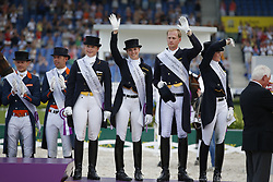 Werth, Isabell (GER);<br /> Bredow-Werndl, Jessica (GER);<br /> Rath, Matthias Alexander (GER);<br /> Sprehe, Kristina (GER), <br /> Aachen - Europameisterschaften 2015<br /> Grand Prix de Dressage 2. Qualifikation<br /> © www.sportfotos-lafrentz.de/Stefan Lafrentz