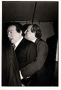 Jackie Mason and his P.R Bobby  Zarem. ONE TIME USE ONLY - DO NOT ARCHIVE  © Copyright Photograph by Dafydd Jones 66 Stockwell Park Rd. London SW9 0DA Tel 020 7733 0108 www.dafjones.com