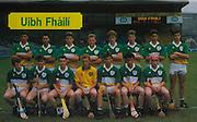 All Ireland Senior Hurling Championship Final,.03.09.1989, 09.03.1989, 3rd September 1989, .Antrim v Tipperary, .03091989AISHCF,.Tipperary 4-24, Antrim 3-9,..Mars, .Offaly, Back row Sean Grennan, Ronan McNamara, Finbarr Cullen, Niall Hand, Brian Whelehan, Ray Dooley, John Dooley, Kevin Flynn, .front row, Damien Barron, Adrian Cahill, Donal Franks, John Troy, Hubert Rigney, Michael Hogan, Oisin O'Neill,
