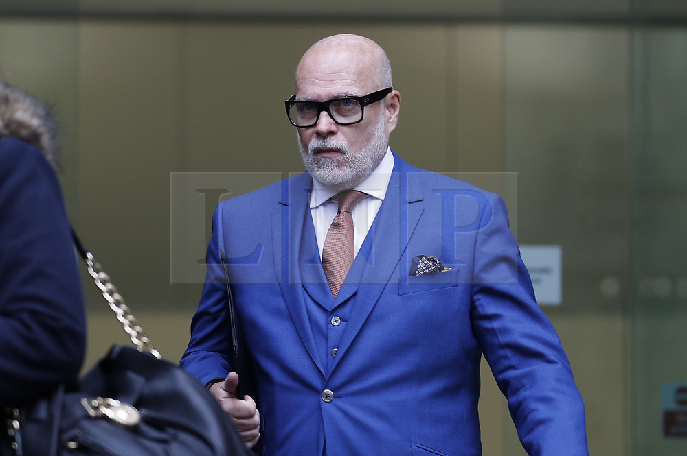 © Licensed to London News Pictures. 14/11/2017. London, UK. GARY GOLDSMITH, an uncle of the Duchess of Cambridge, leaves Westminster Magistrates Court. The younger brother of Kate Middleton's mother allegedly punched his wife, Julie-Ann Goldsmith, during a late night argument outside their west London home, following a night out. Police were reportedly called to the address by a taxi driver who dropped the couple off. Photo credit: Peter Macdiarmid/LNP
