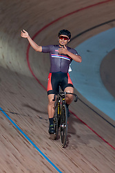 February 8, 2019 - Melbourne, VIC, U.S. - MELBOURNE, VIC - FEBRUARY 08: Azizulhasni Awang of Malaysia celebrates as he wins his sprint final at The Six Day Cycling Series on February 08, 2019 at Melbourne Arena, VIC. (Photo by Speed Media/Icon Sportswire) (Credit Image: © Speed Media/Icon SMI via ZUMA Press)