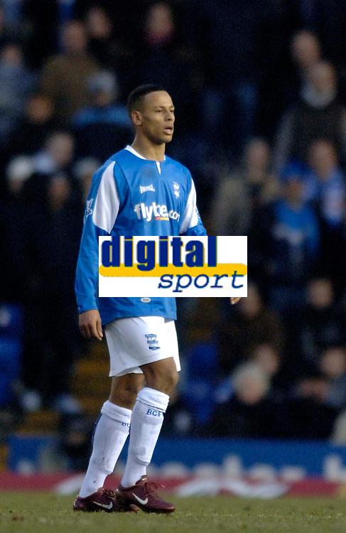 Photo: Glyn Thomas.<br />Birmingham City v Arsenal. The Barclays Premiership. 04/02/2006.<br />DJ Campbell makes his debut for Birmingham.