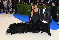 Sean Combs and Cassie attending The Metropolitan Museum of Art Costume Institute Benefit Gala 2017, in New York City, USA. Photo Credit should read: Doug Peters/EMPICS Entertainment.