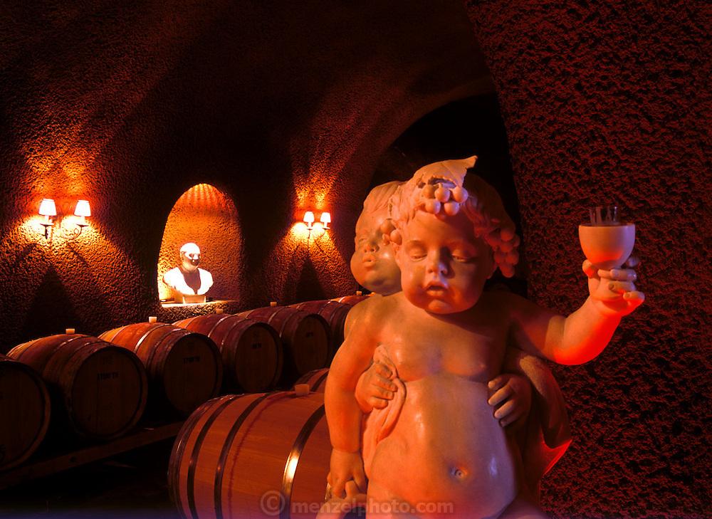Paoletti Winery cave, Napa Valley, CA.
