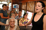 During the month of June the Lisbon Festivities invade the Tramway in the form of Fado.  Singers and players bring their art to what in the rest of the year is a normal line, attracting quite a broad audience. Fado lovers, friends and neighbours of the musicians, tourists and common curious people, all join the regular passengers in the craziest carriers of the year.