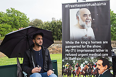 2019-05-11 Ali Mushaima fasts outside Royal Windsor Horse Show