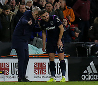 West Ham United manager David Moyes gives instructions to Robert Snodgrass <br /> <br /> Photographer Rich Linley/CameraSport<br /> <br /> The Premier League - Sheffield United v West Ham United - Friday 10th January 2020 - Bramall Lane - Sheffield <br /> <br /> World Copyright © 2020 CameraSport. All rights reserved. 43 Linden Ave. Countesthorpe. Leicester. England. LE8 5PG - Tel: +44 (0) 116 277 4147 - admin@camerasport.com - www.camerasport.com