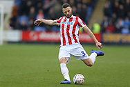 Stoke City defender Erik Pieters (3) during the The FA Cup 3rd round match between Shrewsbury Town and Stoke City at Greenhous Meadow, Shrewsbury, England on 5 January 2019.