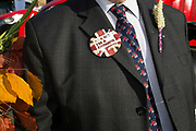 The National Farmers Union NFU took machinery, produce, farmers and staff to Westminster to encourage Members of Parliament to back British farming, post Brexit on 14th September 2016 in London, United Kingdom. MPs were encouraged to sign the NFU's pledge and wear a British wheat and wool pin badge to show their support.