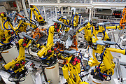 Produktion im VW Werk: Karosserie Fertigung Tiguan / 090317<br /> <br /> <br /> ***Production of the Tiguan Auto Body: Production of VW cars such as Golf and E Golf at the factory in Wolfsburg, Germany on March 9, 2017***