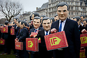 London, UK. Tuesday 19th March 2013. Hundreds of people from the IF Campaign dressed as George Osborne gather in Westminster to remind the Chancellor that tomorrow's Budget belongs to all of us and we want to see him uphold aid promises and end tax dodging. The Enough Food for Everyone Campaign want our leaders to act on four big issues that mean so many people do not get enough food: Aid, Tax, Land and Transparency. http://enoughfoodif.org/