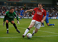 Photo: Glyn Thomas.<br /> Macclesfield Town v Manchester United. Pre Season Friendly. 31/07/2006.<br /> <br /> Manchester United's Wayne Rooney (R).