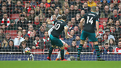 Southampton's Charlie Austin (centre) scores his side's second goal of the game