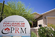 June 02, 2008 - Queen Creek, AZ: A home for sale on Via Del Rancho St. in Queen Creek, AZ. Queen Creek, on the fringe of the Phoenix metropolitan area has been hit hard by the subprime mortgage meltdown and collapse of the housing market. The town is being forced to slash its budget and scale back on development plans. Photo by Jack Kurtz / ZUMA Press