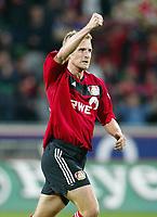 Fotball<br /> Bundesliga Tyskland 2003/2004<br /> Jubel 3:0 Daniel BIEROFKA<br /> Bundesliga Bayer 04 Leverkusen - FC Hansa Rostock 3:0<br /><br /> Foto: Digitalsport