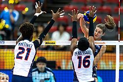 08-10-2018 JPN: World Championship Volleyball Women day 9, Nagoya<br /> Netherlands - Dominican Republic 3-0 / Anne Buijs #11 of Netherlands