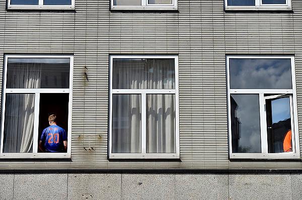 Nederland, Nijmegen, 18-6-2014Verschillende beelden van mensen als oranjesupporter die vlak voor de wedstrijd tegen Australie in de stad zijn.Foto: Flip Franssen/Hollandse Hoogte