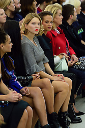 Lea Seydoux, Alicia Vikander and Catherine Deneuve attending the Louis Vuitton show as a part of Paris Fashion Week Ready to Wear Spring/Summer 2017 in Paris, France on October 05, 2016. Photo by Aurore Marechal/ABACAPRESS.COM