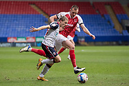 Bolton Wanderers midfielder Lloyd Isgrove (23)in possession of the ballv during the EFL Sky Bet League 2 match between Bolton Wanderers and Cheltenham Town at the University of  Bolton Stadium, Bolton, England on 16 January 2021.