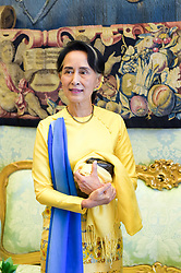 NO FRANCE - NO SWITZERLAND: May 4, 2017 : State Counsellor and Union Minister for Foreign Affairs of the Republic of the Union of Myanmar Aung San Suu Kyi at the Vatican for a private audience.