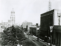 1930 Looking east on Hollywood Blvd. from Orange Dr.