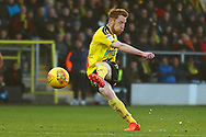 Burton Albion's Stephen Quinn shoots at goal during the EFL Sky Bet League 1 match between Burton Albion and Coventry City at the Pirelli Stadium, Burton upon Trent, England on 17 November 2018.