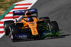 February 18, 2019 - Barcelona, Spain - The Spanish driver, Carlos Sainz, of McLaren F1 Team, testing the new car for F1 2019 Championship, during the first day of Formula One Test at Catalonia Circuit, on February 18, 2019 in Barcelona, Spain. (Credit Image: © Joan Cros/NurPhoto via ZUMA Press)