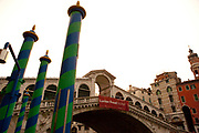 Rialto Bridge spanning the Grand Canal, Venice, Italy