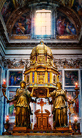 """Angels Guard the Main Altar of the Sistine Chapel - Basilica of Santa Maria Maggiore Rome""…<br />