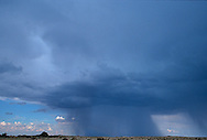 Isolated Monsoon rains moving across the high desert grass land.
