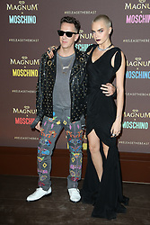 Jeremy Scott and Cara Delevingne attending the Magnum X Moschino Party at Plage Magnum during The 70th Annual Cannes Film Festival in Cannes, southern France on May 18, 2017. Photo by Jerome Domine/ABACAPRESS.COM